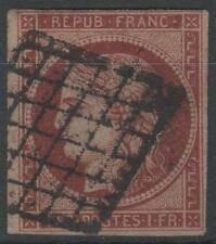 """FRANCE STAMP TIMBRE N° 6 b """" CERES 1F CARMIN FONCE 1849 """"OBLITERE TB A VOIR N457"""
