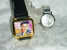 "Vtg  RARE  ""ELVIS PRESLEY"" LOT OF 2 Wristwatches, 1987 & 1981"