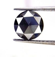 1.39TCW 6.5 MM Round Rose cut Jet Black AAA Color African Natural Loose Diamond