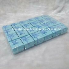 Bulk Lot TreaChi 24pcs Blue Square Jewelry Ring Gift Cardboard Box Case Holder