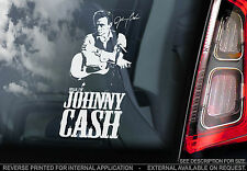 Johnny Cash - Car Window Sticker - Country Rock & Roll Music Autograph Signature