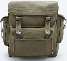 RETRO BACKPACK MILITARY BAG RUCKSACK SATCHEL WEBBING FISHING VINTAGE ARMY STYLE