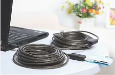 65FT 65' USB 2.0 Extension Repeater Cable Signal Boost Male to Female Active 20M