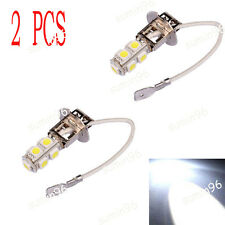 2x H3 Lens 9 LED SMD Car Auto Xenon White Fog Driving Head Light CREE Lamp Bulb