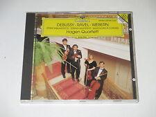 CD/DEBUSSY/RAVEL/WEBERN/STREICHQUARTETTE/HAGEN QUARTETT/DG 437836-2