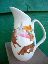 "Vintage, Red Wing Pottery ""ROUND UP"" Pattern Creamer -No Damage Conditon"