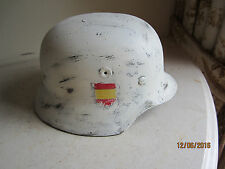WWII GERMAN SPANISH BLUE DIVISION EASTERN FRONT CAMO M40 HELMET REPRODUCTION