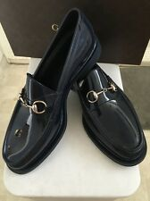 New Arrival New Gucci Blue Rubber Horsebit Loafer Shoes Uk Sz 11 /US Sz 12 ����