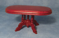 Mahogany Pedestal Dining Table, Dolls House Miniatures