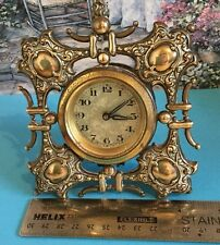 Antique Brass German Table Clock Stamped D R G M