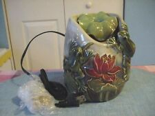 Therapeutic Sound FROGS & Lily Pads Indoor/Outdoor TableTop Garden Fountain