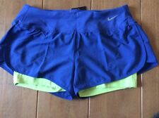 Nike Ladies 2 in 1 Running Shorts Dri Fit size Medium