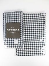 SFERRA Dinner Napkins & Placemats PICCADILLY Color: Indigo (Blue) Set of 3 ea