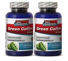Green Coffee Bean Extract Cleanse 400mg -  Lean Body Mass Capsules (2 Bottles)