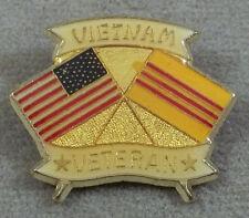 US Armed Forces Vietnam Veteran Crossed Flags Pin / Clutchback