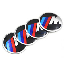 4X56mm Car Wheel Center Hub Cap Sticker Auto Decal Steering Badge for BMW M3 M5