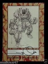 SDCC Comic Con 2013 EXCLUSIVE IDW Ragnarok SIGNED 2013 Convention signature card