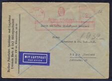 Germany(Ostland), 1944, Firma air-mail cover from Berlin with red franking machi