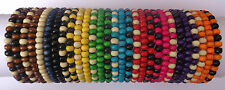 Ladies / Womens Job Lot X 30 Wooden Tribal / Surfer Elastic Bead Bracelets - NEW