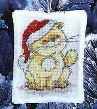 "Solo's Christmas Hat Decoration Cross Stitch Kit - Anchor - 3.75"" x 2.75"""