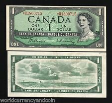 CANADA $1 P75B 1954 *REPLACEMENT* QUEEN UNC WORLD CURRENCY MONEY BILL BANK NOTE