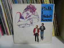 "Ph. D "" I DIDN'T KNOW-THEME FOR JENNY"" 7"" 1983"