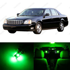 11 x Green LED Interior Light Package For 2000 - 2005 Cadillac DeVille
