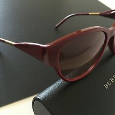 Burberry Women's Cat-eye Sunglasses BE4190 Burgundy Red Gradient Gold Italy Made