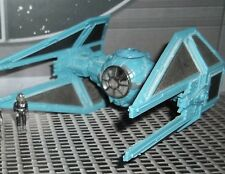 STAR WARS ACTION FLEET IMPERIAL TIE INTERCEPTOR  WITH PILOT