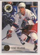 "1993-94 Leaf  ""Hat Trick Artists""  Teemu Selanne"