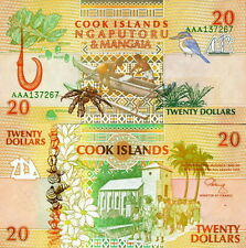 ISOLE COOK - Cook Island - 20 dollars 1992 FDS UNC