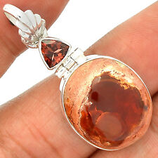 Mexican Fire Opal 925 Sterling Silver Pendant Jewelry SP218353