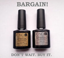 CND Shellac original set of Top Coat and Base Coat -- Best price