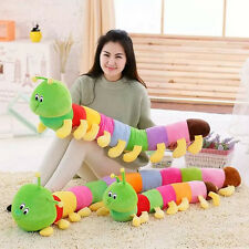 Baby Kids Cute Toy Colorful Inchworm Soft Caterpillar Bug Doll Plush Hold Pillow