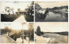 Miller (Gary) Indiana Calumet River Lagoon Marquette Park 4 real photo PC