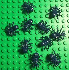 Lego X10 Pc. New Dark Blue Ant / Insect Land Animal Mini Figures Bulk Lot