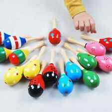 Hot Cute Baby Kids Sound Music Gift Toddler Rattle Musical Wooden Colorful Toys
