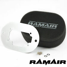 RAMAIR Performance Carb Foam Air Filters Baseplate Weber 32/36 DGEV 65mm Bolt On