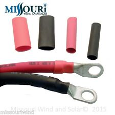 """3/4"""" Heat shrink tubing for copper lugs 1 foot red 1 foot black total of 2 feet"""