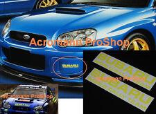 """2x 6""""15.2cm Subaru vlimited fog lamp decal sticker Imperza WRX GDB C D WRC rally"""