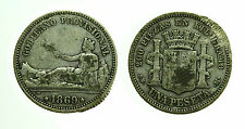 pcc1607_1) SPAGNA SPAIN 1 PESETA  1869 - DEFECT