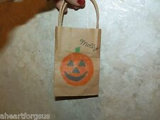 American Girl MOLLY RETIRED HALLOWEEN BAG Never Played with Mint Pumpkin face