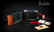 Brofeta Voigtlander Bessa II camera leathar case/bag and neck strap Handmade