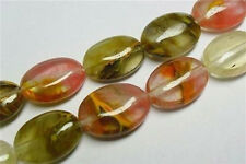 Beautiful 13X18mm Multicolored Watermelon Tourmaline Gems Oval Loose Beads 15""