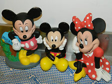 LOT 3 tirelire FIGURINE WALT DISNEY mickey minnie MFG moneybox SPARDOSE