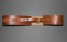"NWT! ABERCROMBIE Womens Leather Studded Belt 2.25"" Wide XS/S $68 Hollister"