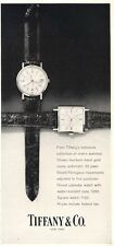 1962 TIFFANY Watch Girard Perregaux  Movements PRINT AD