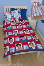 CHILDRENS GIRLS BOYS ONE DIRECTION SINGLE BED BEDDING DUVET QUILT COVER SET