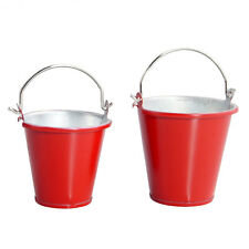 Metal Red Decorative Large Bucket RC Fopower For 1:10 Electric Rock Crawlers