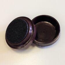 4. Large Brown Felt Bottomed Castor Cups Floor Protectors - 60mm Diameter
